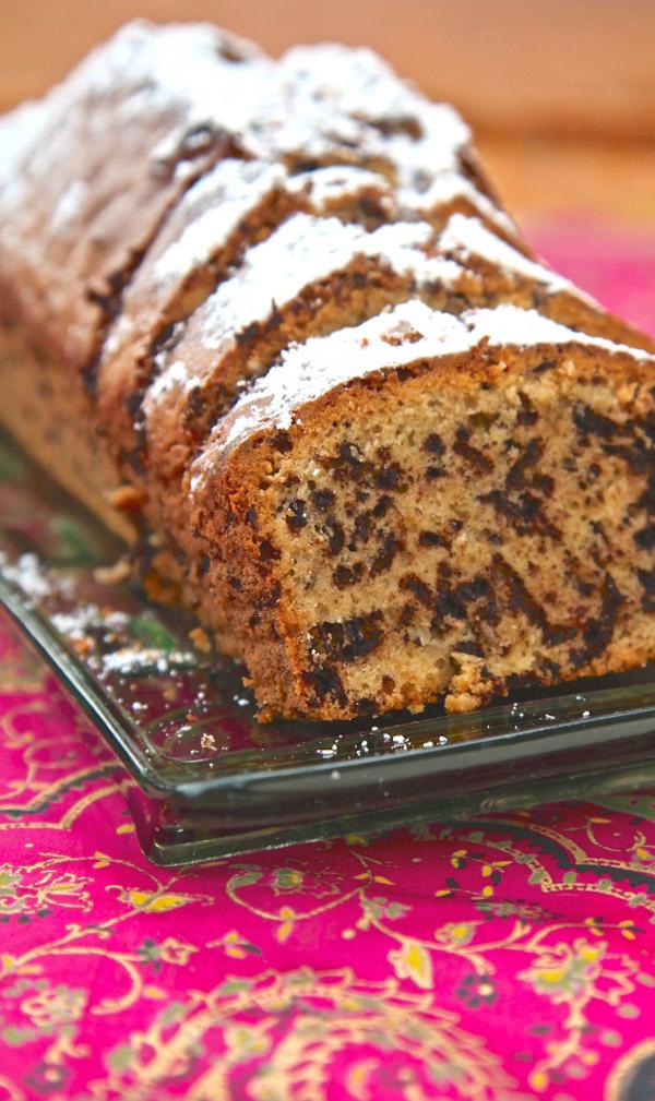 Italienischer Schoko Nuss Kuchen Pfeffer Salz Fertig