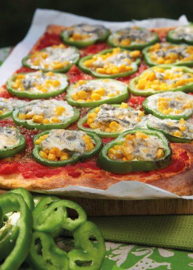 Paprika-Gorgonzola-Pizza